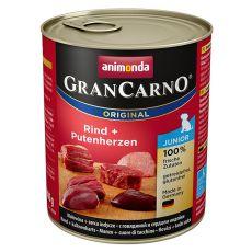 Konserwa GranCarno Fleisch Junior wołowina + serce z indyka - 800g
