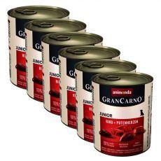 Konserwa GranCarno Fleisch Junior wołowina+serce z indyka-6x800g