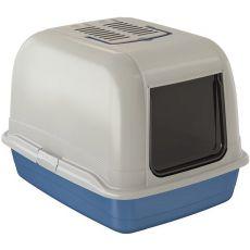 Kuweta dla kota BELLA MAXI niebieska - 65,5x50x47cm