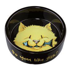 Miska dla kotów, czarna ceramiczna - 0,3l