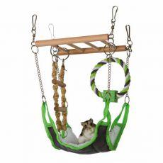 Zabawka do wspinaczki do powieszenia dla małych gryzoni - 17 x 15 x 22 cm
