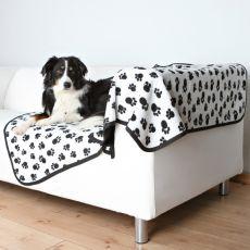 Dwustronny koc BENNY dla psów - czarno-biały, 150 x 100 cm