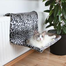 Pluszowe legowisko dla kotów do zawieszenia na grzejnik - leo, 58 x 30 x 38 cm