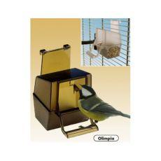 Karmidło dla ptaków Olimpia brązowe - 6 x 9 x 9 cm