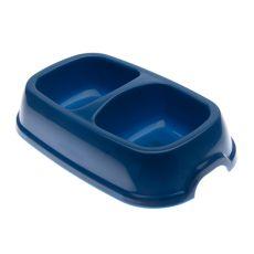 Podwójna miska dla psa SNACK 22 - niebieska, 2 x 500 ml