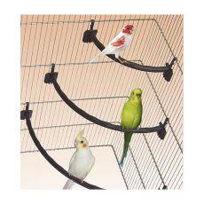 Drążek do siedzenia dla ptaków, plastikowy BIAŁY - 1,2 x 27 cm