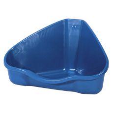 Narożna toaleta NORA 2 w kolorze niebieskim - 30 x 24 x 19 cm