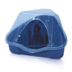 Narożna toaleta z przykrywką NORA 3C niebieska - 50 x 34 x 32 cm