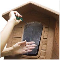 Drzwi na budę psa - porta 3, plastikowe - 39,5 x 22 cm