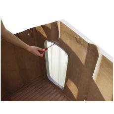 Drzwi do budy psa - porta 4, plastikowe - 50 x 27,5 cm