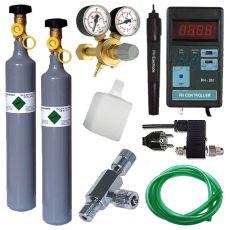 CO2 profesjonalny zestaw + butla wymienna 500g + pH kontroler